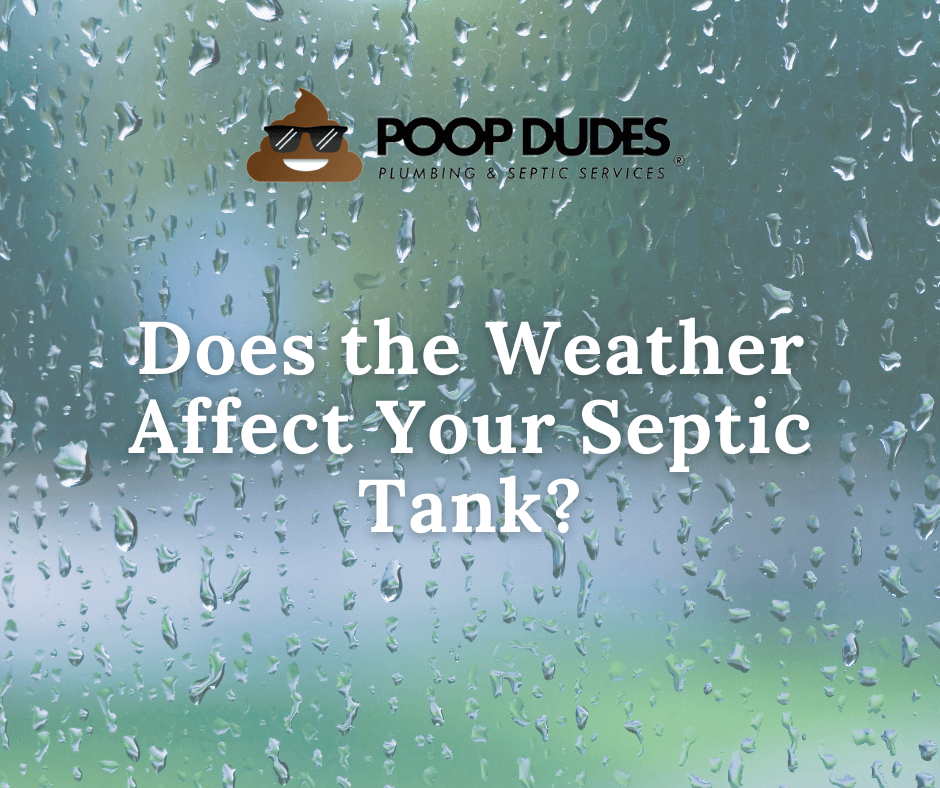 Does the weather affect your septic tank, window with rain on it