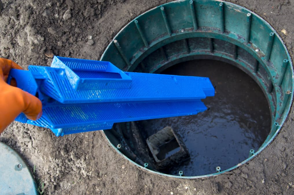 Septic Cleaning, a pic of inside a septic tank