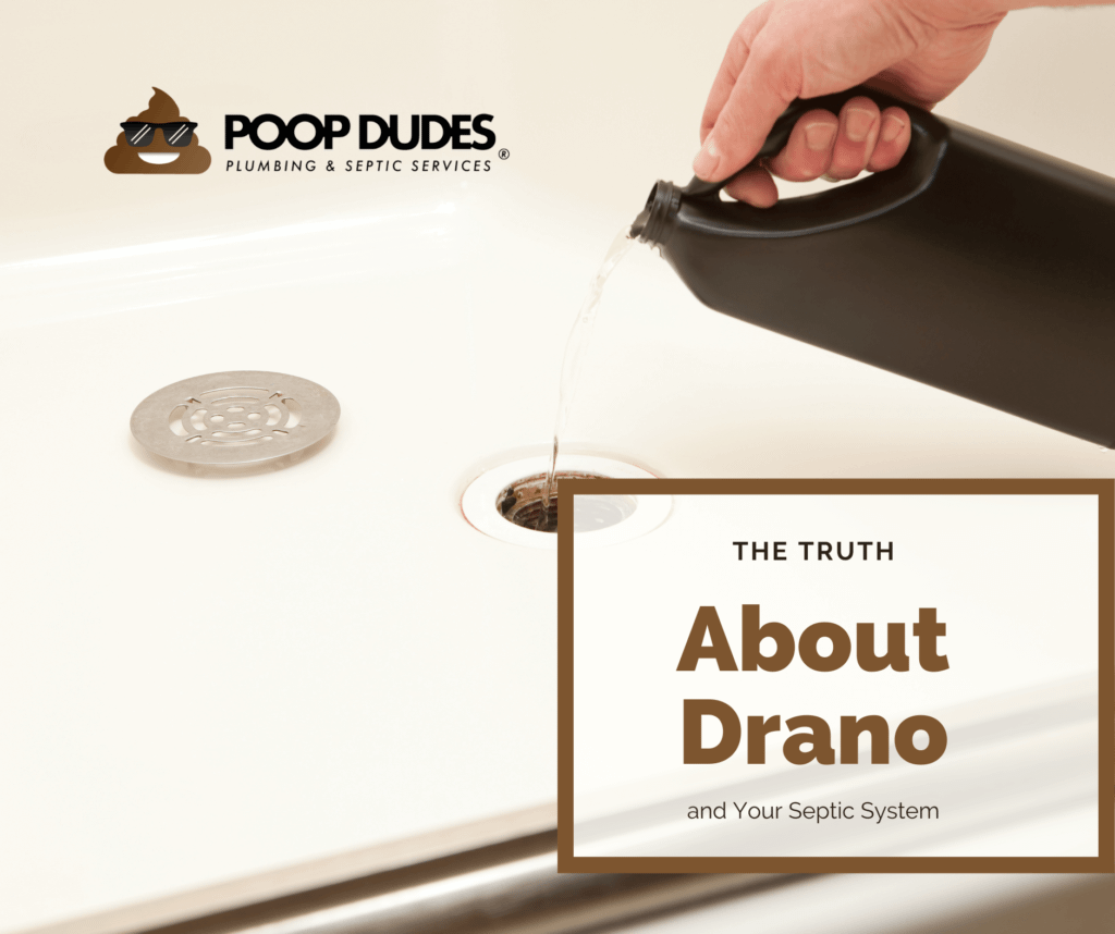 About draino and your septic system, pouring draino down the sink